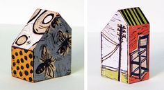 Lisa Kesler and her wooden houses