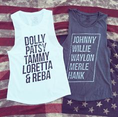 Adorable Classic Country Queens and Kings muscle tanks! Country Queens: Dolly, P… – New York Life Magazine Country Girl Style, Country Fashion, Country Outfits, Country Girls, Western Outfits, Western Style, Country Girl Shirts, Country Tank Tops, Country Music Shirts