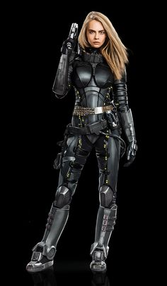 Valerian and Laureline in their space-time agent spacesuits Female Cyborg, Female Armor, Cyberpunk Fashion, Cyberpunk Art, Valerian And Laureline, Armadura Cosplay, Space Opera, Futuristic Armour, Sci Fi Armor