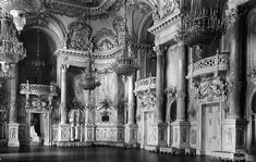 The beautiful interior of the Buda Castle in Budapest. The royal palace was the last stronghold of the Nazi forces in the city and came under heavy artillery fire during WW2. The roof structure collapsed and everything on the inside was destroyed. Whatever remained was later looted by the red army.: Lost_Architecture Budapest, Old Pictures, Old Photos, Buda Castle, Roof Structure, Interesting Buildings, Royal Palace, History Photos, Historical Architecture