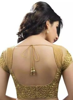 Gold blouse - black fitted blouse, womens printed shirts and blouses, women's fitted blouses *ad Golden Blouse Designs, Fancy Blouse Designs, Bridal Blouse Designs, Saree Blouse Neck Designs, Choli Designs, Saree Jacket Designs Latest, Stylish Blouse Design, Designer Blouse Patterns, Design Patterns