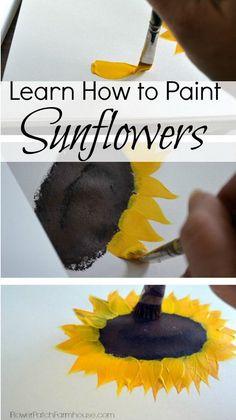 Simple Sunflowers Canvas