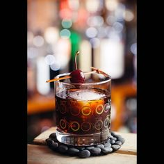 One of my favorite #cocktails at one of my favorite bars in Chicago is called Two bitters and one brown. But alas I no longer live with n Chicago. Tonight I wanted something similar but darker. #angelofdeath with #oldoverholt #rye #whiskey #averna #amaro #jagermeister a few dashes #angostura #bitters. I like these weird #oddball drinks. #straightryewhiskey #cocktail #bitter #angelofdeathcocktail #jagermeistercocktail by zerospecbebop