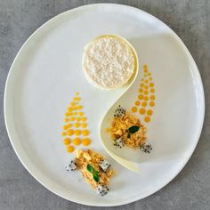 This exotic coconut mousse with passion fruit & mango coulis will have you dreaming of the tropics in no time!