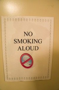 Please smoke silently.--hahahaha
