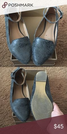 Kelsi Dagger Brooklyn Yelle Flat Size 6 EUC Pointy-toed loafer in soft n' supple leather. Finished with an attached ankle-strap bearing adjustable buckle closure for a perfect fit. Worn once. Box included with purchase. Kelsi Dagger Shoes Flats & Loafers