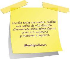 #elconsejodehoy para lograr tus #metas .#FelizJueves #HeiddySulbaran #lifecoach #lifecoaching.#sueños #objetivos #logros