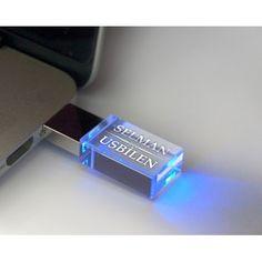 Kişiye Özel Işıklı Akrilik USB Bellek