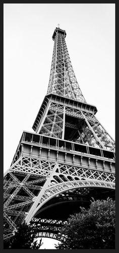 Quadro Decorativo em Preto e Branco Paris Torre Eiffel 68x143cm - Decore Pronto