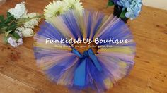 Royal blue and Yellow  Baby Tutu Skirt by FunkidsandUsBoutique