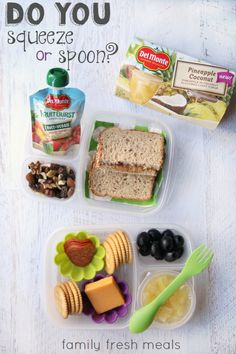 Back to School lunch and snack ideas - lunches packed in @Easylunchboxes | FamilyFreshMeals.com