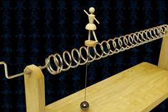 Spring Ballerina Wooden Toy - STEP / IGES,SOLIDWORKS,AutoCAD,Parasolid - 3D CAD model - GrabCAD