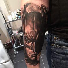 Batman tattoo by Vlad! Limited availability at Revival Tattoo Studio!