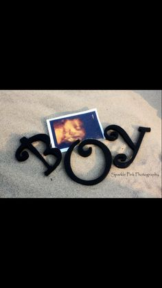 Baby boy! #baby #props #diy #letters #beach