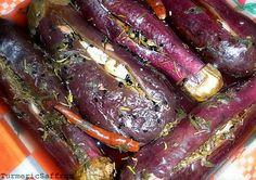 Turmeric and Saffron: Torshi Bademjan - Quick Pickled Eggplant Preserving Eggplant, Afghan Food Recipes, Afghan Recipe, Pickled Eggplant, Aubergine Recipe, Iran Food, Iranian Cuisine, Grilling Gifts, Chutney Recipes