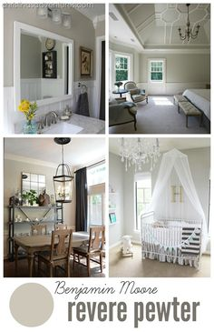"BM #ReverePewter - the PERFECT neutral paint color.  It's a true ""greige"" - everyone always asks for the name of this paint color - looks great in any light!"