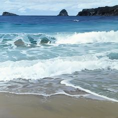 Waves At Hahei by Alison Gilmour. Artprints available thru www.imagevault.co.nz