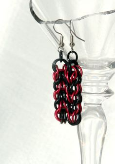Black and Red Persian Earrings by TheVisualArtisan on Etsy, $20.00