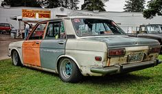 Shakotan Oscar: Rat + Datsun = Ratsun   My dad rebuilt an engine for one of these and made it a drag racing car! It was awesome!!