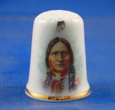 Fine China Thimble Chief Sitting Bull Sioux | eBay
