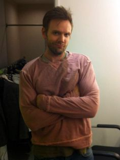 Joel McHale shows us his best model pose in the Gypsy 05 Phiz Ed Sweatshirt!
