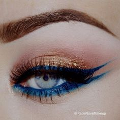 "How beautiful is this gel eyeliner by @sigmabeauty in ""Standout peacock"" #obsessed by katienovamakeup"