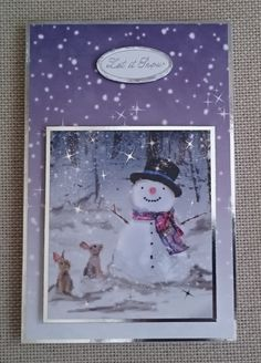 Handmade C6 Christmas Card by BavsCrafts on Etsy