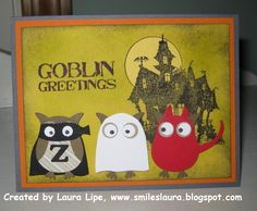 Stampin' Up!  Owl Punch  Laura Lipe  Halloween