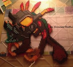Perler Bead Murloc from the Game World of Warcraft made by Sunrise/Kathi