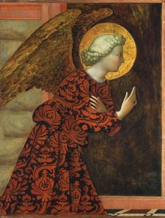 Masolino da Panicale (Tommaso di Cristoforo Fini) The Archangel Gabriel, c.1430 tempera (?) on panel