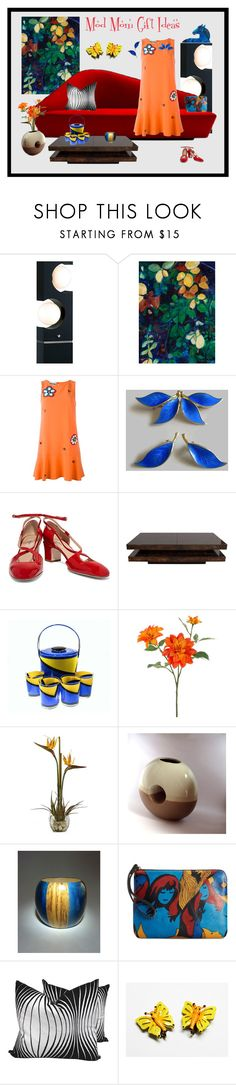"""Mod Mom Gift Ideas"" by anna-ragland ❤ liked on Polyvore featuring Nova Lighting, Verlaine, Moschino, Valentino, Georges Briard, John Lewis, Nearly Natural, Bellini, Patricia Nash and contemporary"