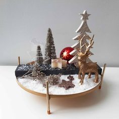 Adventdeko für innen oder außen. Rentiert und Baum aus Naturstein und Feinsteinzeug. #Häusler #Outdoordeko #Deko #Indoordeko #Weihnachten #Advent