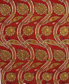 Vine design, an Ottoman fabric design, second half of century Textiles, Textile Patterns, Textile Design, Fabric Design, Pillow Design, Motifs Islamiques, Turkish Design, Turkish Tiles, Vine Design