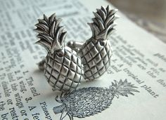 Hey, I found this really awesome Etsy listing at https://www.etsy.com/listing/113796262/silver-pineapple-cufflinks-gothic