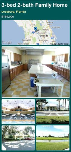 3-bed 2-bath Family Home in Leesburg, Florida ►$159,000 #PropertyForSale #RealEstate #Florida http://florida-magic.com/properties/15942-family-home-for-sale-in-leesburg-florida-with-3-bedroom-2-bathroom