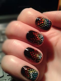 Dotted nail art :) simple n cute