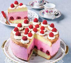 Tvarohová torta s malinami