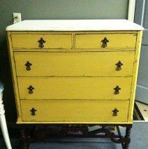 Dresser in Arles and Old White w/ Dark Wax.