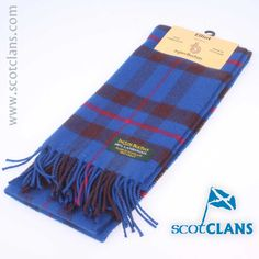 Elliot Lambswool Tartan Scarf. Free Worldwide Shipping Available