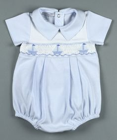 Another great find on #zulily! Blue Sailboats Pima Bubble Romper - Infant #zulilyfinds