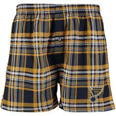 St. Louis Blues Concepts Sport Formation Knit Boxer Shorts - Blue/Gold - $13.99