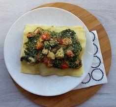 Open lasagne met kip & pesto