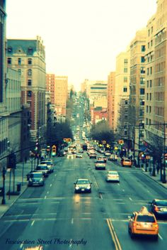 Amsterdam Ave, NYC. Beautiful shot of morningside heights/Columbia university!!