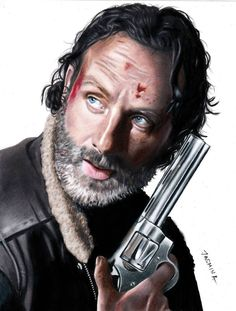 Colored Pencil Drawing: Rick Grimes by JasminaSusakYou can find Rick grimes and more on our website.Colored Pencil Drawing: Rick Grimes by JasminaSusak The Walking Dead Poster, Walking Dead Show, The Walking Dead Tv, Rick Grimes, Walking Dead Wallpaper, Clouds Wallpaper Iphone, Colored Pencil Portrait, Naruto Tattoo, Top Celebrities