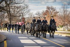 Soldiers of Honor Guard Company, 4th Battalion, 3d U.S. Infantry Regiment (The Old Guard) provided ceremonial support for military funerals in Arlington National Cemetery to honor our fallen comrades on 10 December 2014. (Photos by Alison K. Connors)