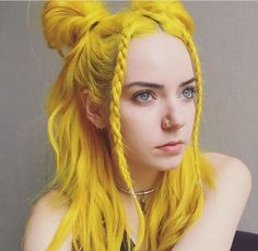 hair, yellow, and color image