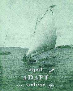 adjust adapt continue / written & designed by amy graham stigler / changing course / monograham