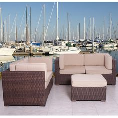 Have to have it. Nice Deluxe All Weather Wicker Conversation Set - Seats 4 $3561.99