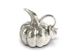 Pewter Pumpkin Table Pitcher