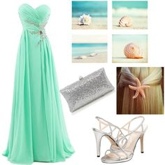 Green And Blue Colors Beach Theme Wedding Accessories Beach Wedding Color Combinations Bridal Accessories Strapless Dress Formal, Prom Dresses, Wedding Color Combinations, Beach Wedding Colors, Wedding Gallery, Bridal Accessories, Wedding Ceremony, Ocean, Blue Colors